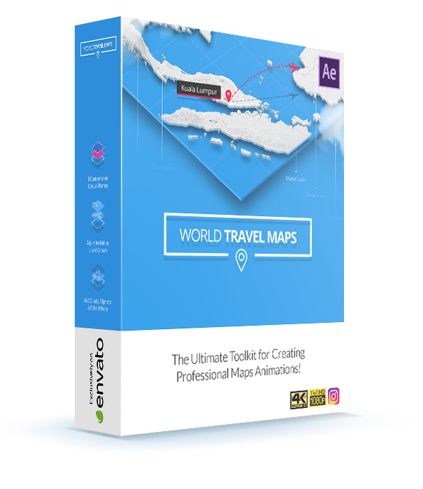 World Travel Maps template